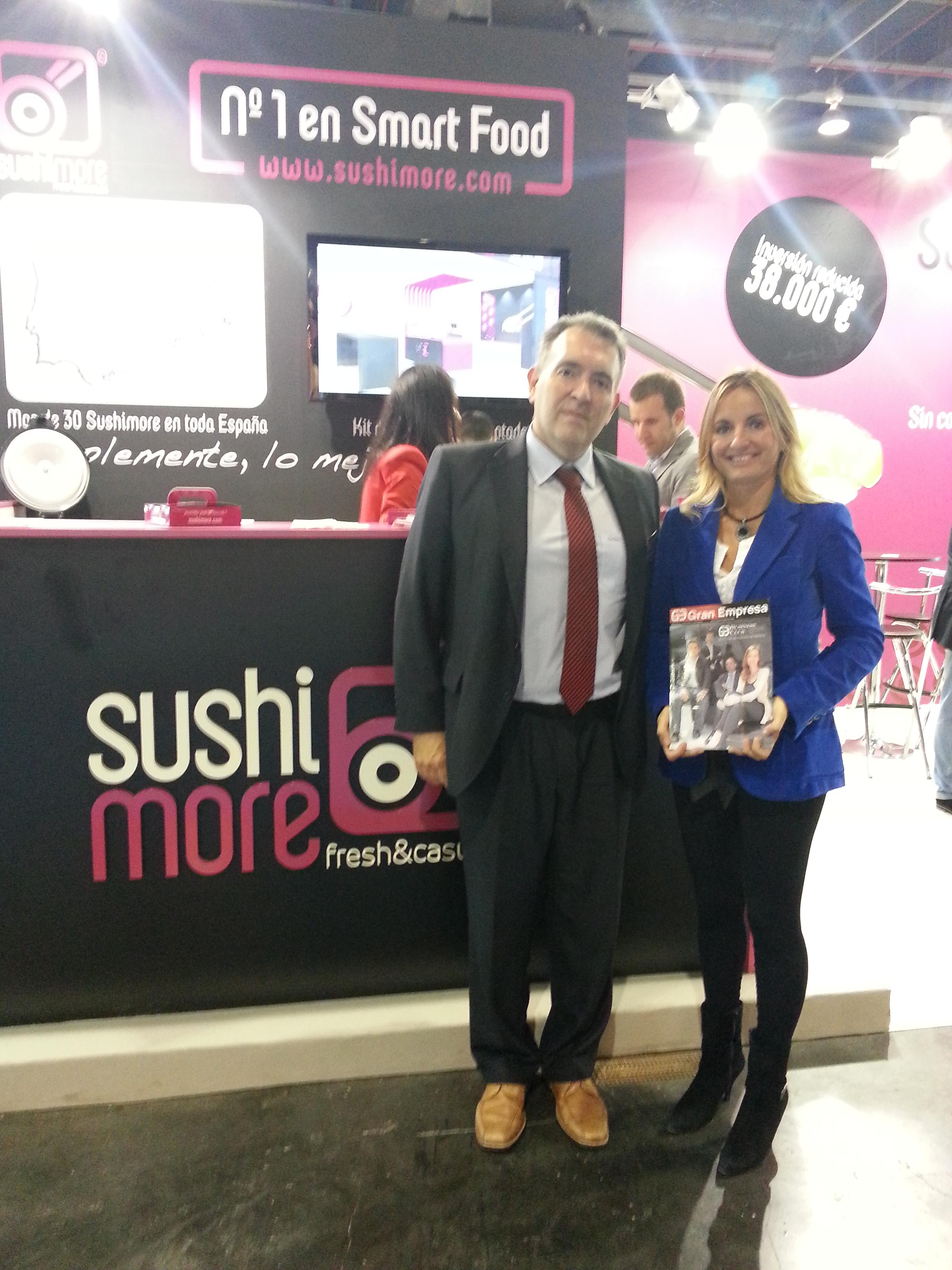 Gema Olavarietta - CEO de Sushi More y Juan Antonio Tormo - Director de AFBAL