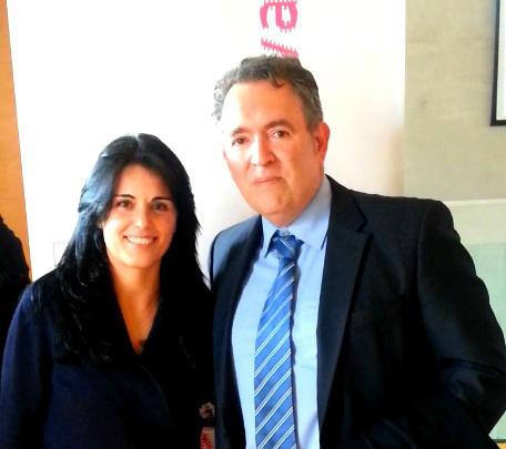 Juan Antonio Tormo , director de AFBAL con Esperanza Crespi, Regidora de Comerç, Trevall i Joventut